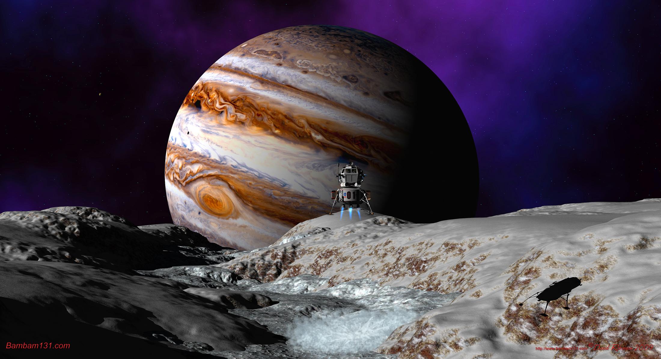 a spaceship landing on jupiter - photo #33